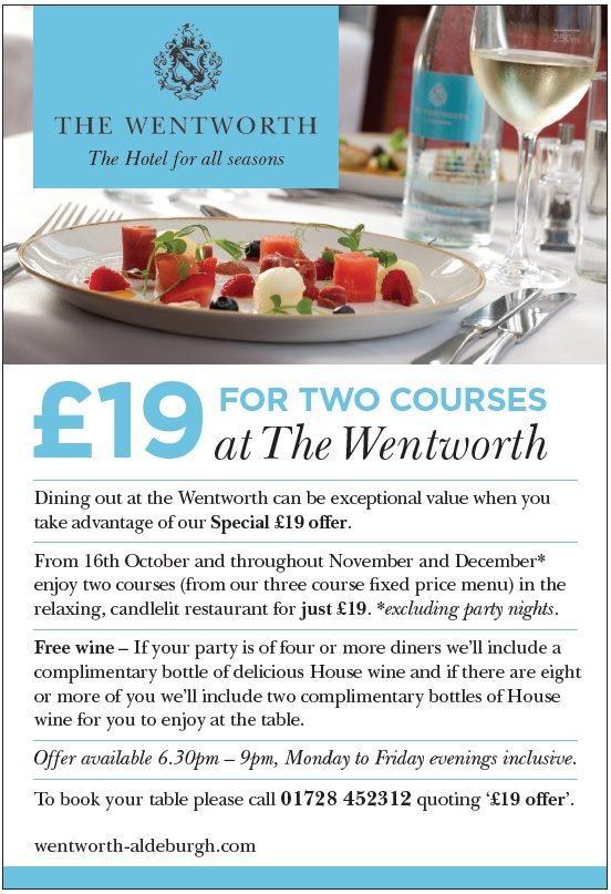 Dining Offer Wentworth Aldeburgh