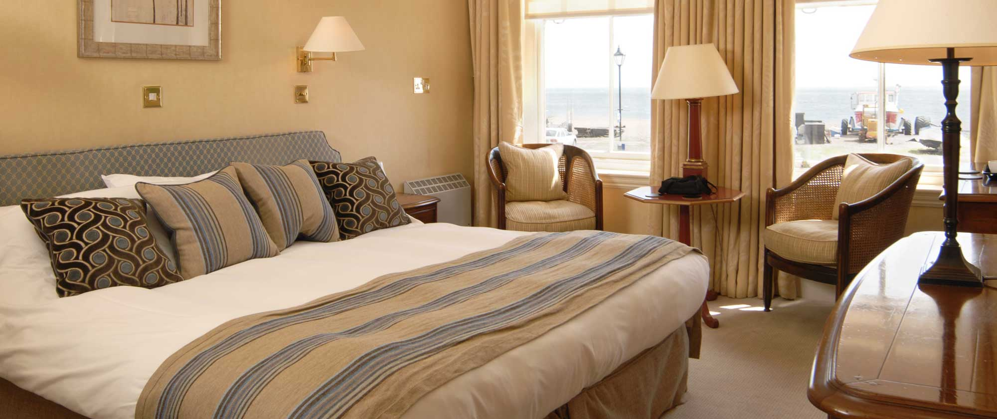 Bedrooms at The Wentworth Hotel in Aldeburgh